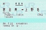 恵比寿⇒上野毛 経由:渋谷