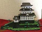 小田原城を鉄道ジオラマに