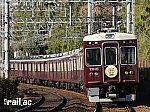 阪急沿線西国七福神ヘッドマークを掲出する7010×8R
