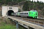 青函トンネルを出る789系スーパー白鳥