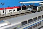 ミニホームセットを使った東海道線の簡易イメージ