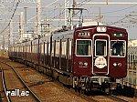 阪急京都線・大阪メトロ堺筋線 相互直通50周年ヘッドマークを掲出する阪急3323×8R