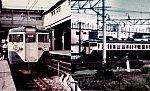 大船駅の非冷房113系横須賀線