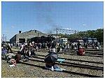 秩父鉄道広瀬川原車両基地のイベント風景