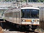 北神急行線市営化記念ヘッドマークを掲出する神戸市交通局7000系西神中央側先頭車