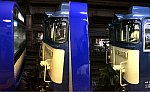 大船駅に停車中のE235系1000番台J-01編成とEF64-1031