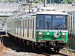 北神急行線市営化記念ヘッドマークを掲出する神戸市交通局2000系西神中央側先頭車