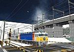 仮想日本海縦幹線雪景色踏切A16カシオペア
