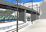 仮想日本海縦幹線雪景色トンネル在来線1