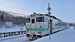 [JR北] キハ40形気動車1714@桜岡駅(石北本線)