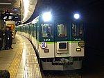 中之島駅に停車中の団体臨時列車5000系5551F。