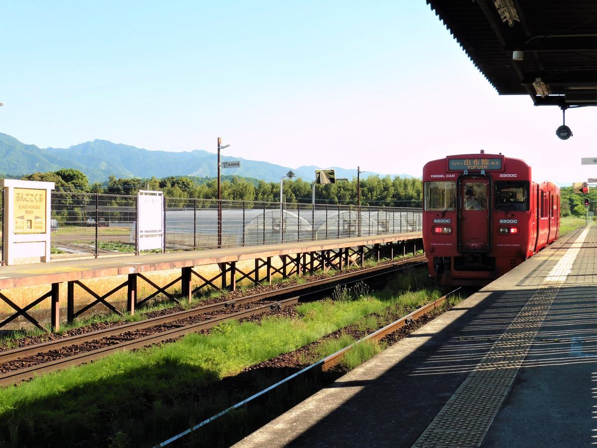 平成元年3月11日開業駅の一つ、久大本線の豊後国分駅。JR九州で同日開業した新駅は、このほかに須恵中央、都府楼南、いこいの村など13駅あります