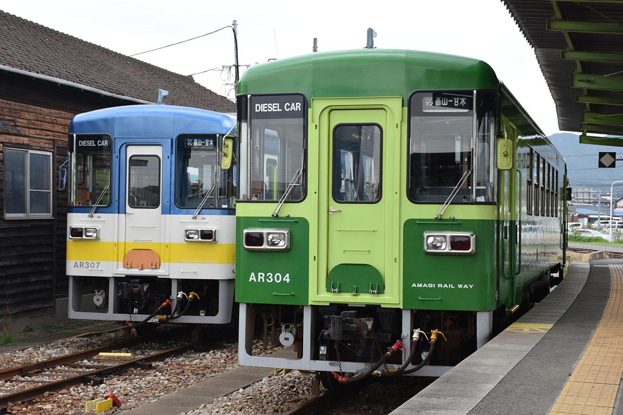 福岡県と佐賀県を走る甘木鉄道の車両。富士重工の標準型車両、LE-DCを導入しています