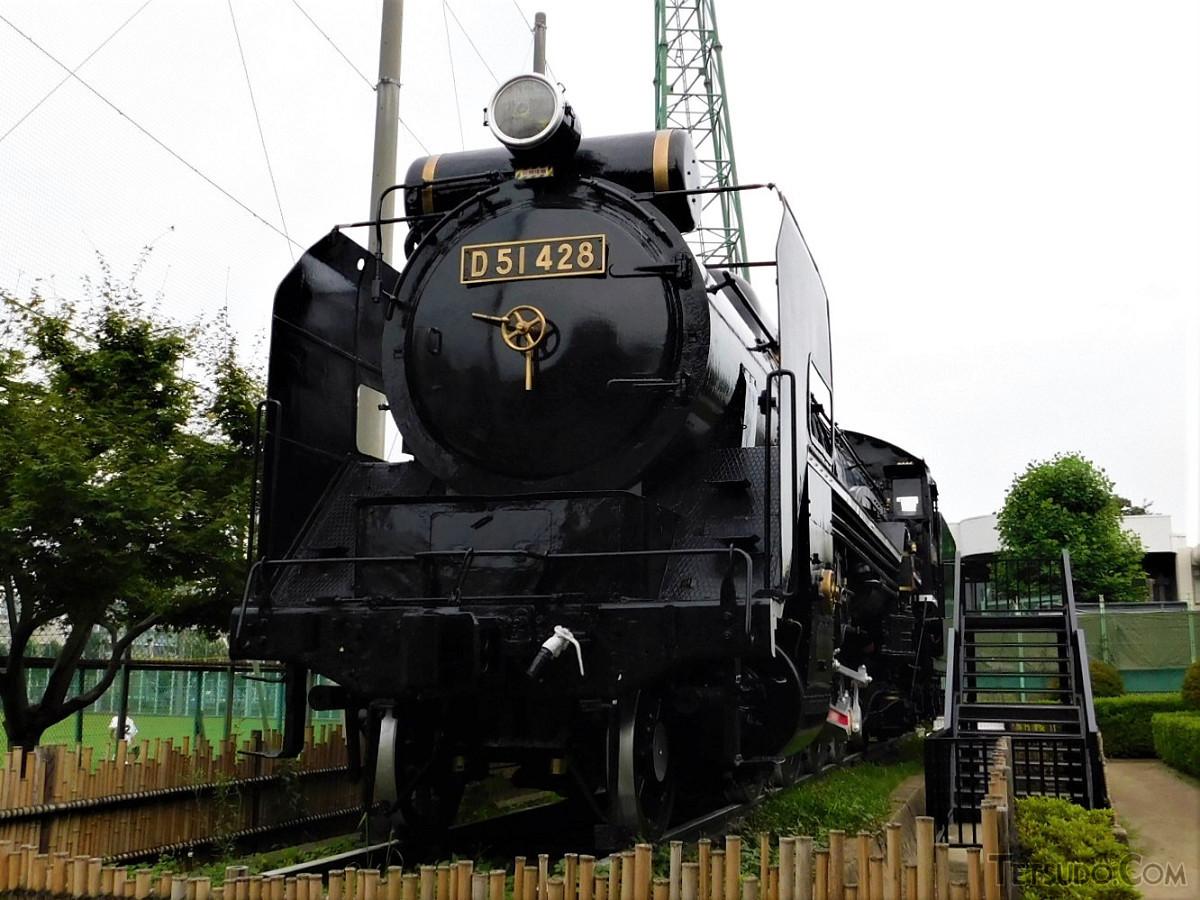 大田区東調布公園のSL「D51-428」