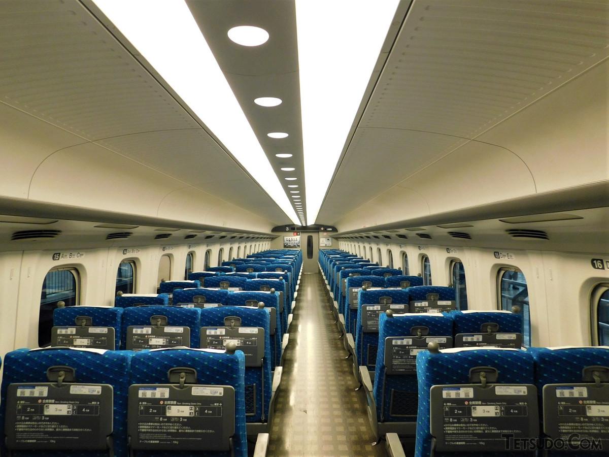 N700系3号車。座席数は85あります