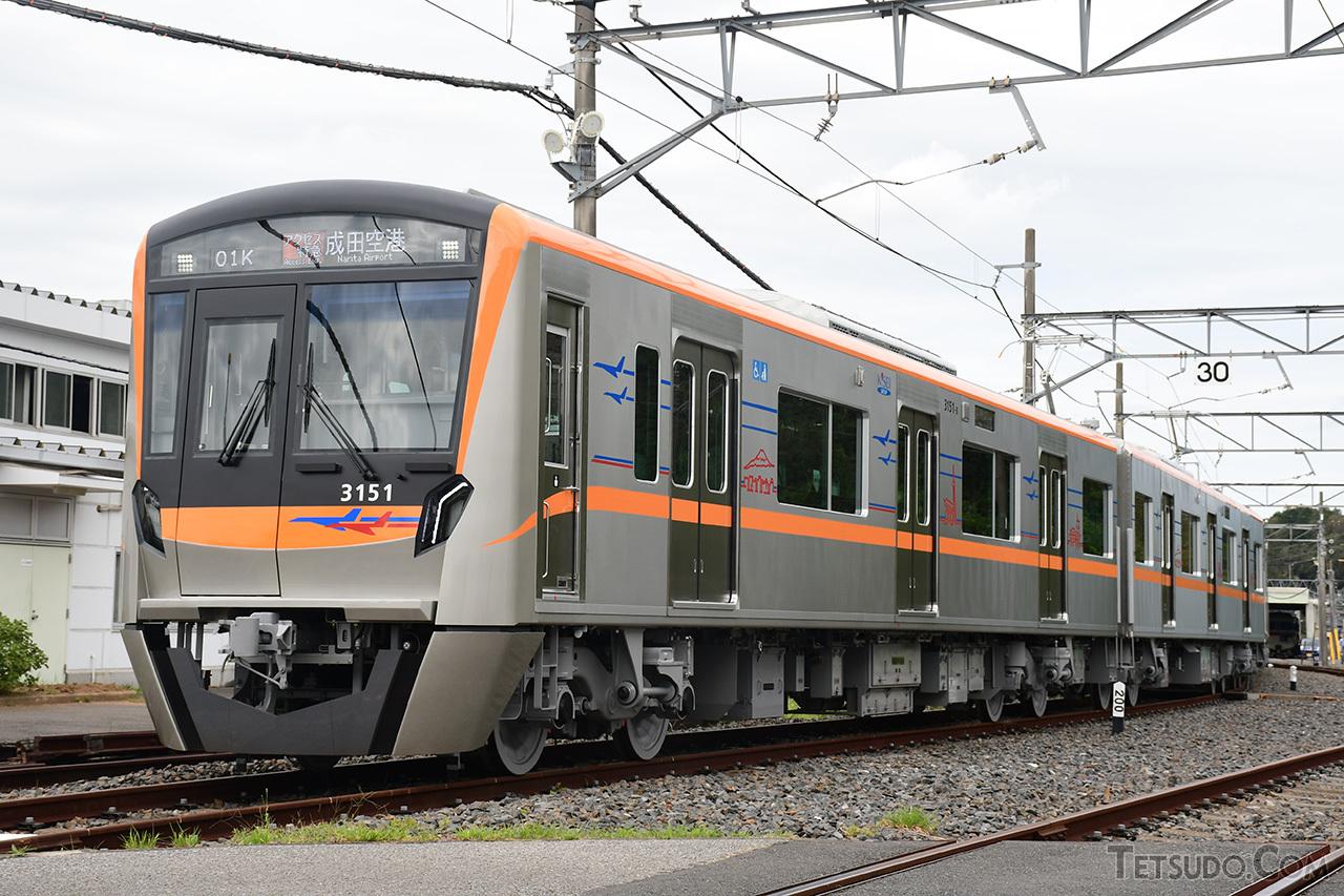 京成電鉄の新型一般型車両、3100形。10月26日より営業運転を開始します