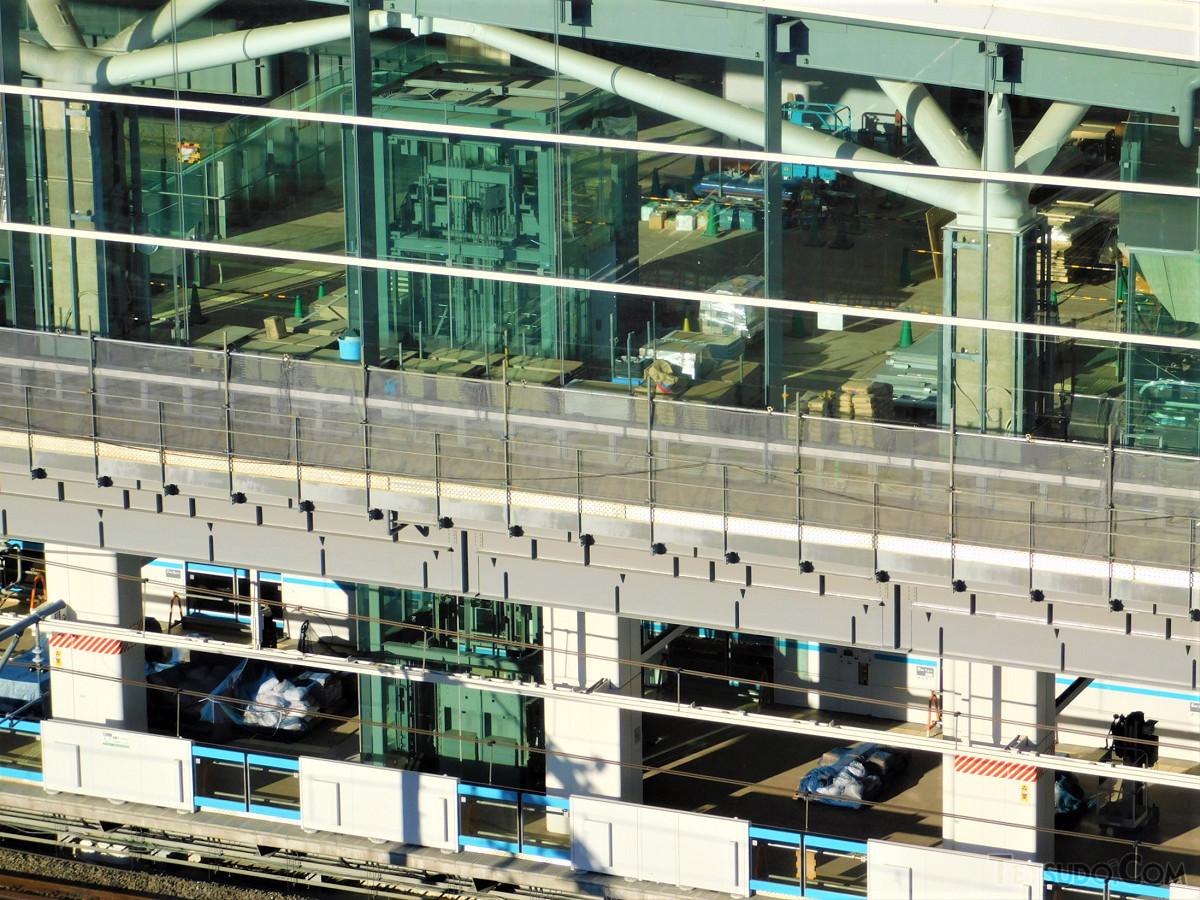 京浜東北線ホーム側を拡大。同ホームの上階には、イベントスペースが設けられます