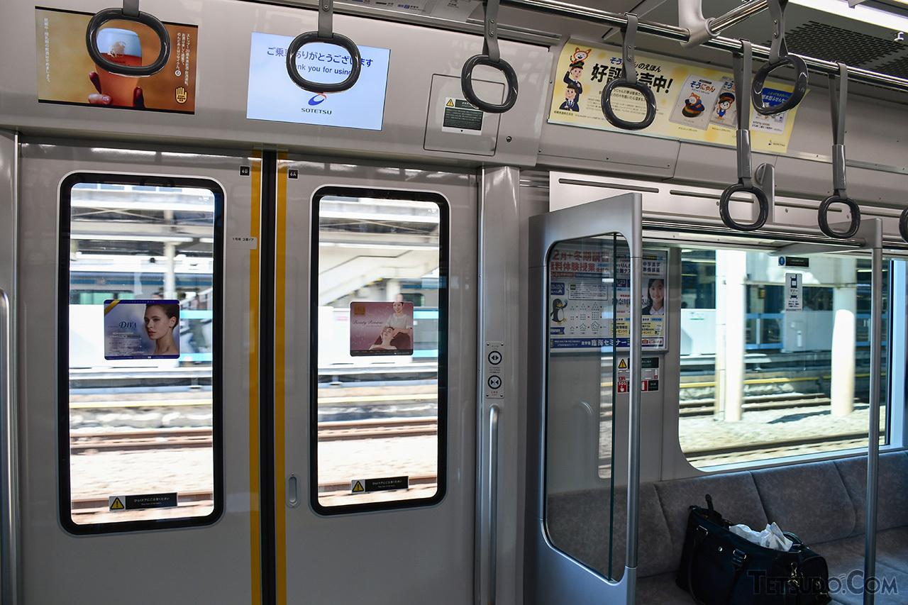 鶴見駅を通過する直通線の列車。ホームが無く乗降はできませんが、鶴見駅を経由した扱いとなります