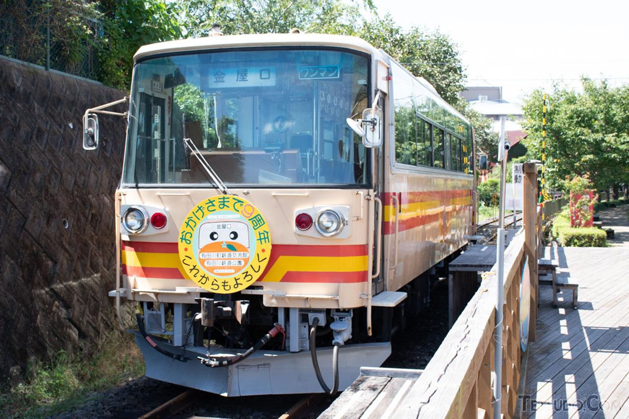 樽見鉄道のハイモ180-100形。後に有田鉄道に譲渡され、現在は有田川町鉄道公園で動態保存されています