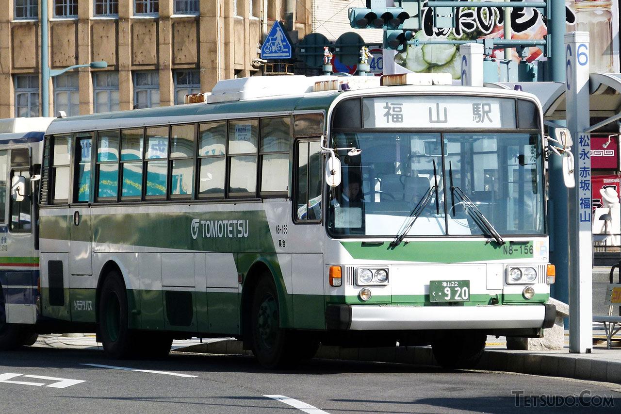 富士重工業5Eボディを架装した、鞆鉄道のN8-156号車。LE-Carの車体は、この5Eボディを鉄道用にカスタマイズしたものです