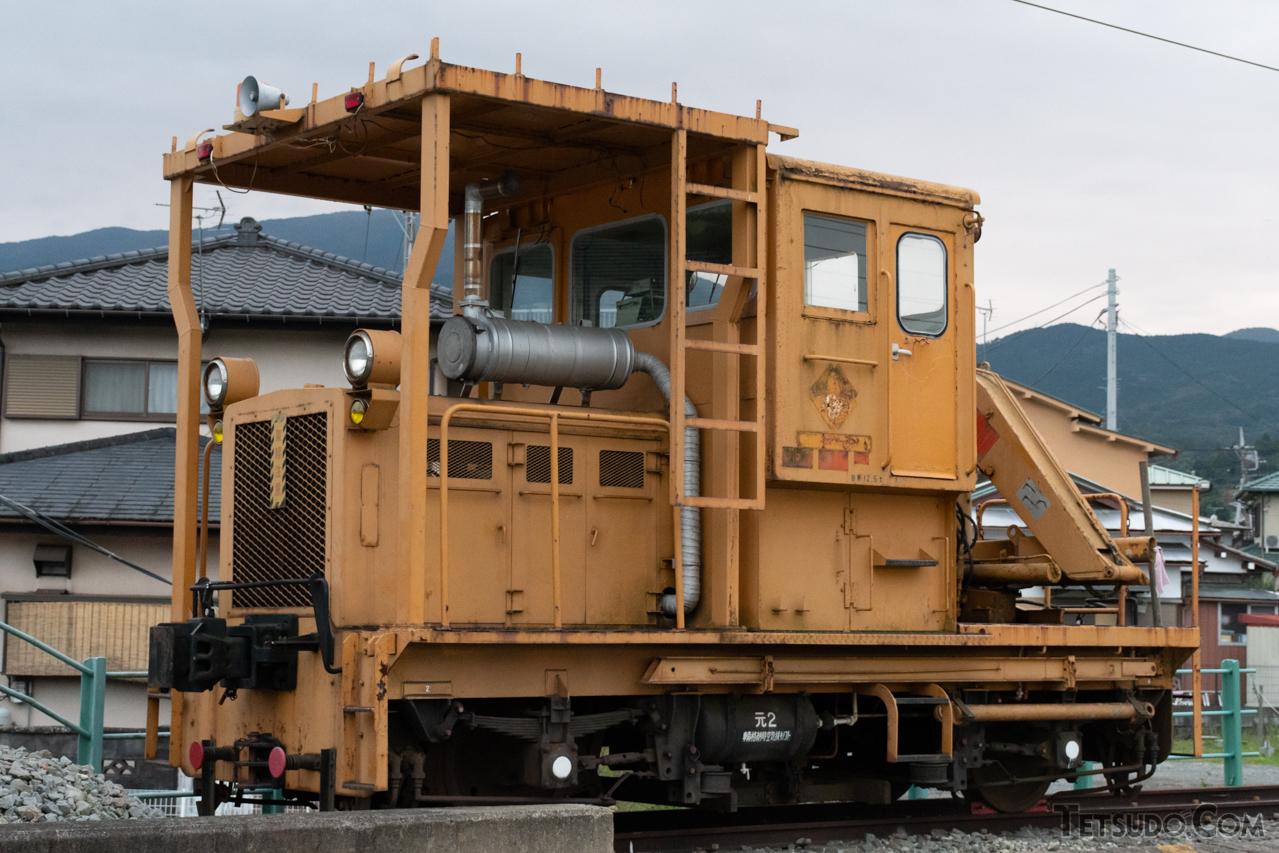 富士重工業は、乗用の鉄道車両のみならず、写真のような保線車両も製造していました。こちらは伊豆箱根鉄道のモーターカー「TMC201C」