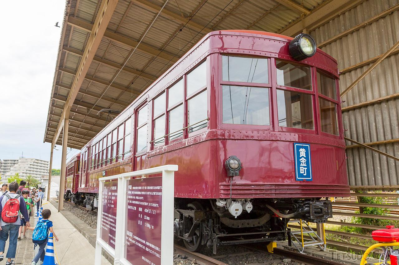 湘南電気鉄道デ1形(後の京急デハ230形)。登場時の姿に復元された1両が、京急久里浜工場に保存されています