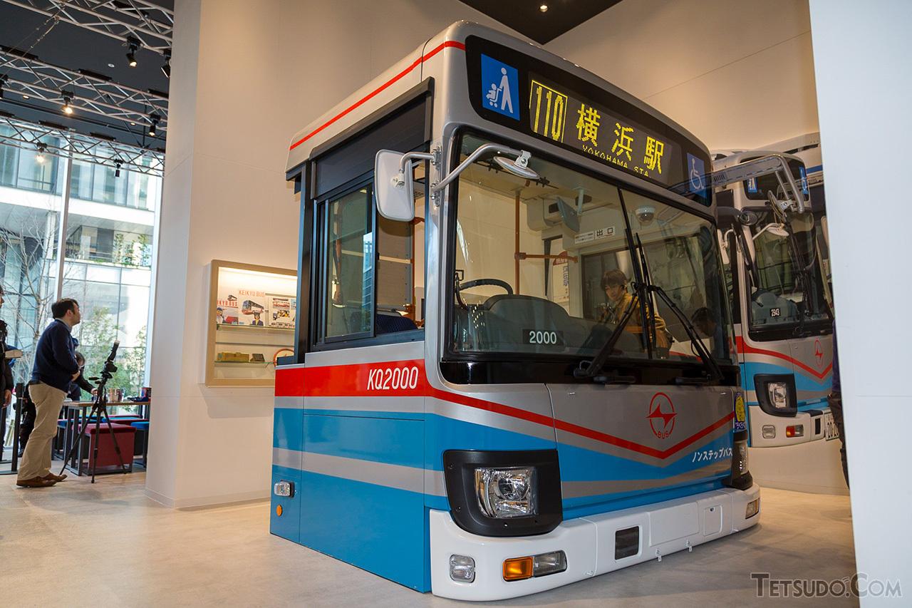 京急バス関連を展示する「バスネットワーク」のコーナー。運転席部分のモックアップのほか、京急バスの歴史などが展示されています
