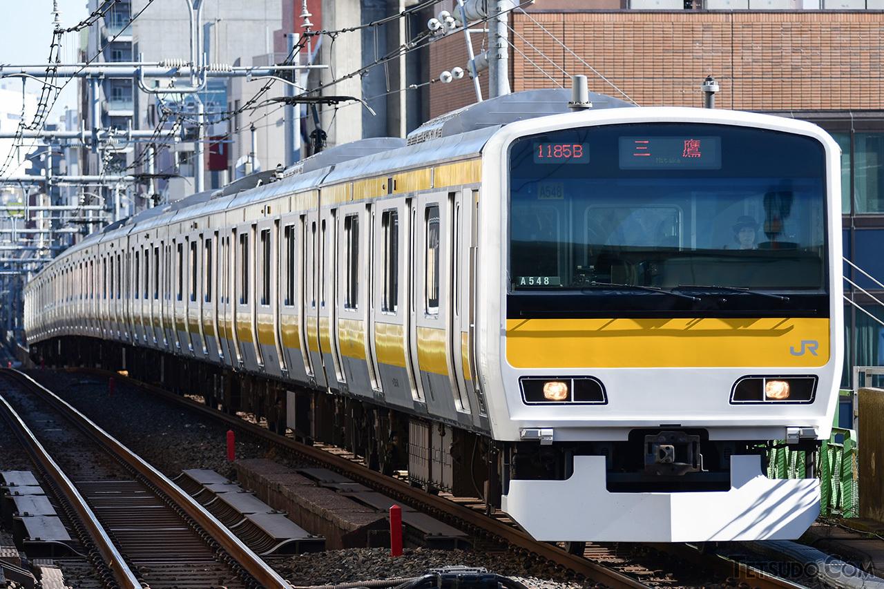 中央・総武線各駅停車に転用されたE231系500番台