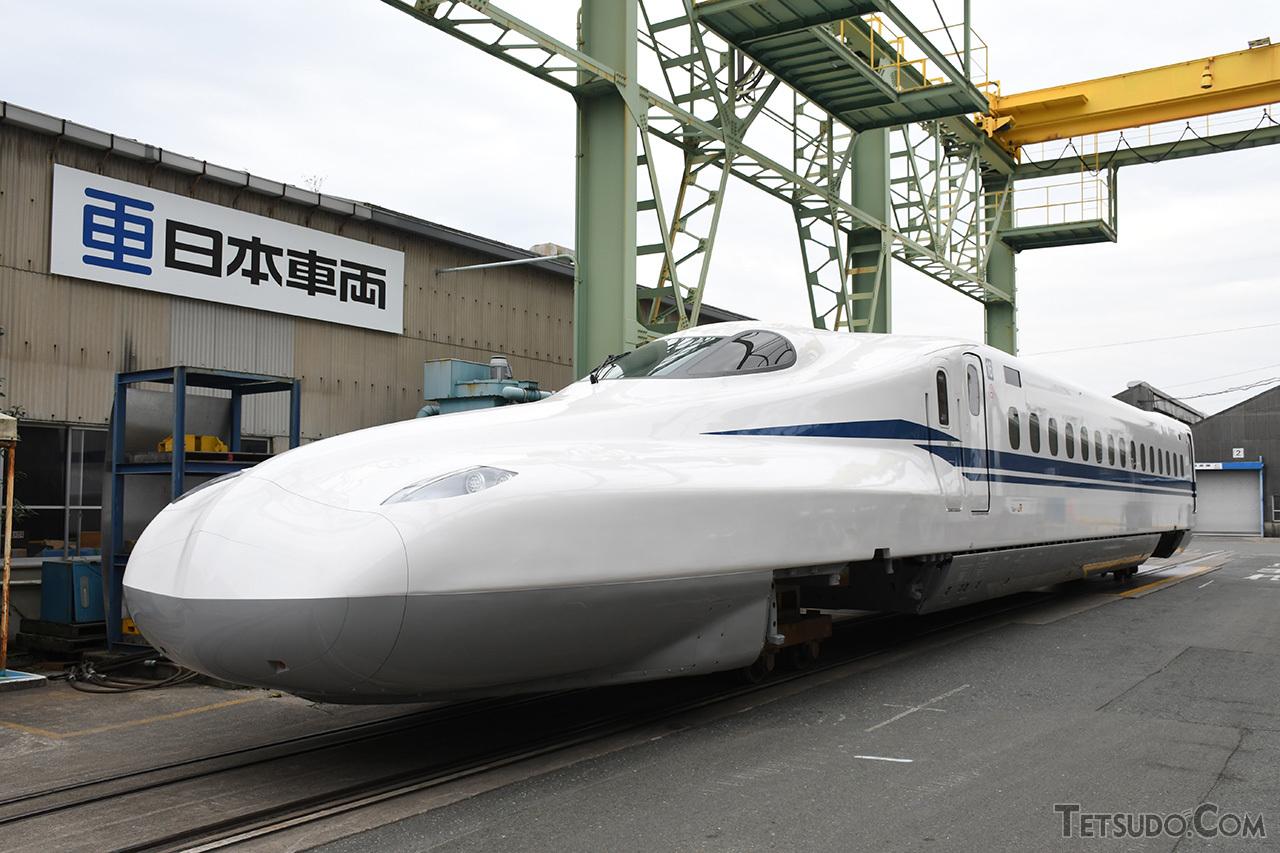 2月25日に公開された、N700S量産車の第1編成先頭車両