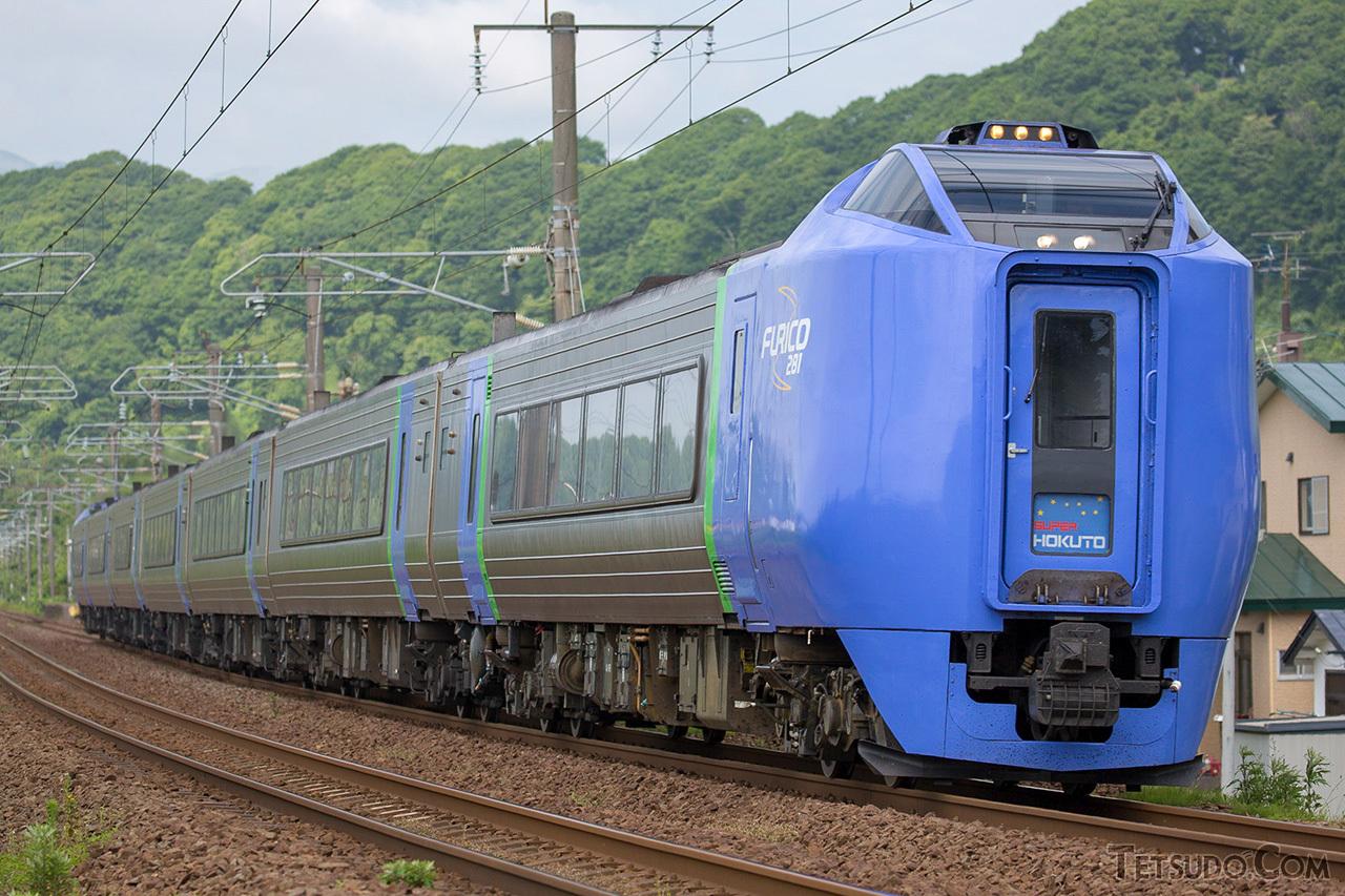 JR北海道の特急「スーパー北斗」。3月ダイヤ改正以降は特急「北斗」へ名前が変わります