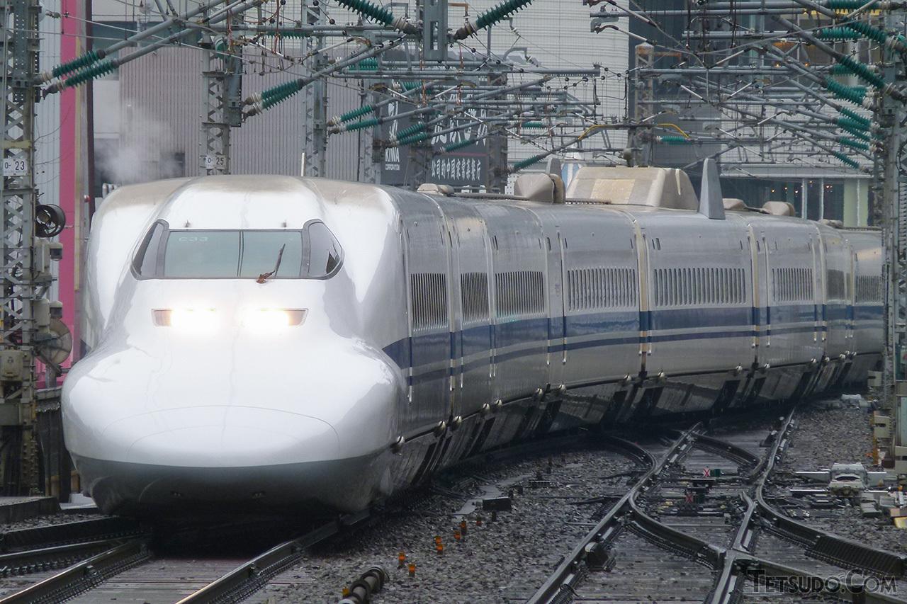 3月1日のツアー専用団体列車をもって引退した、JR東海の700系(撮影:鉄道コム編集部)