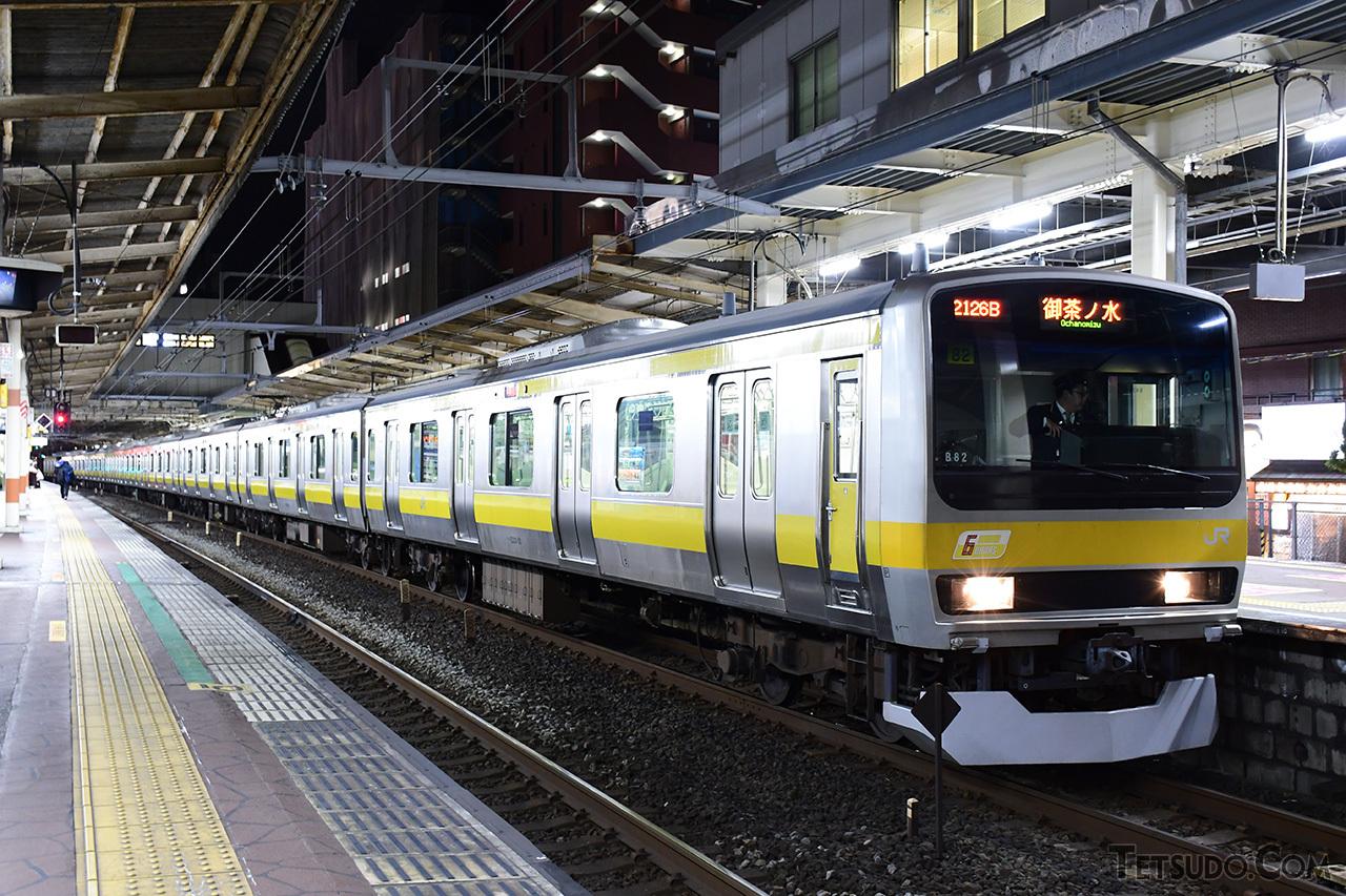 6ドア車両を組み込んでいた中央・総武線各駅停車の車両