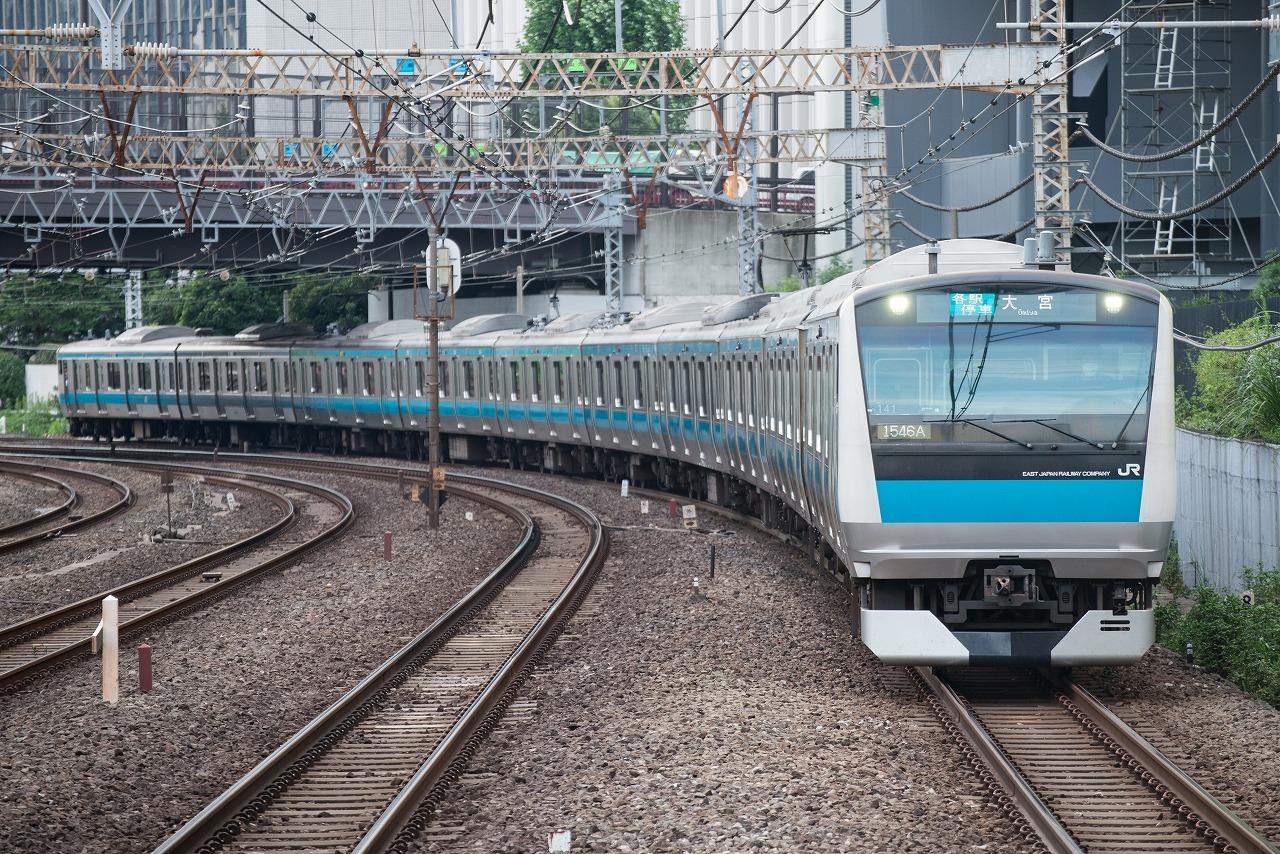 京浜東北線に投入されたE233系1000番台。定員増加などの理由で、6ドア車両の導入は見送られました