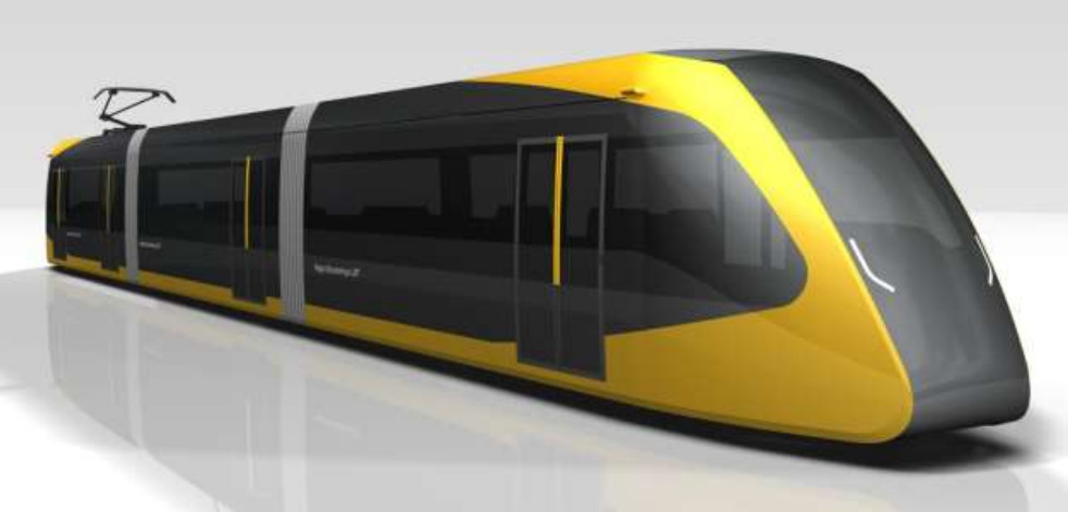 2022年開業を目指す「宇都宮ライトレール」の車両(画像:宇都宮市)