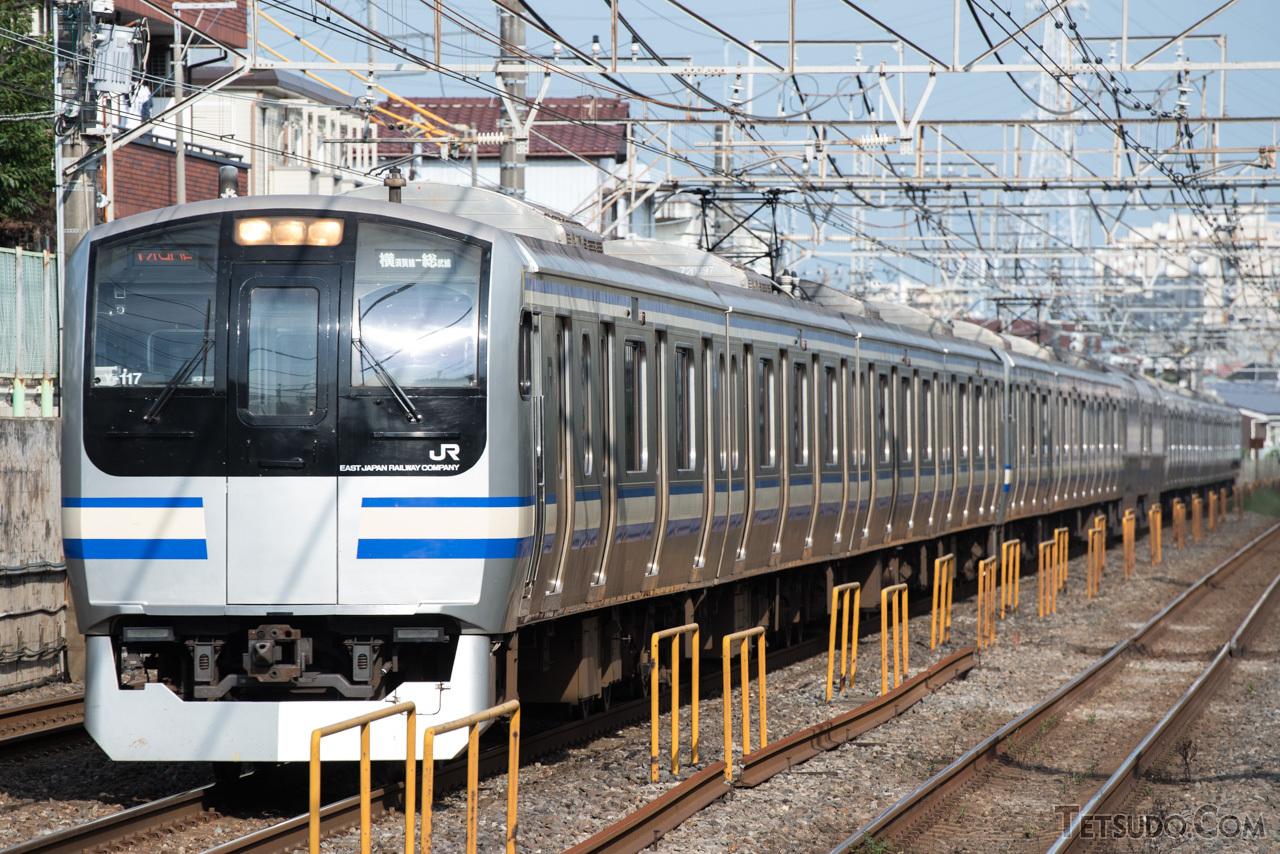 横須賀・総武快速線で活躍するE217系