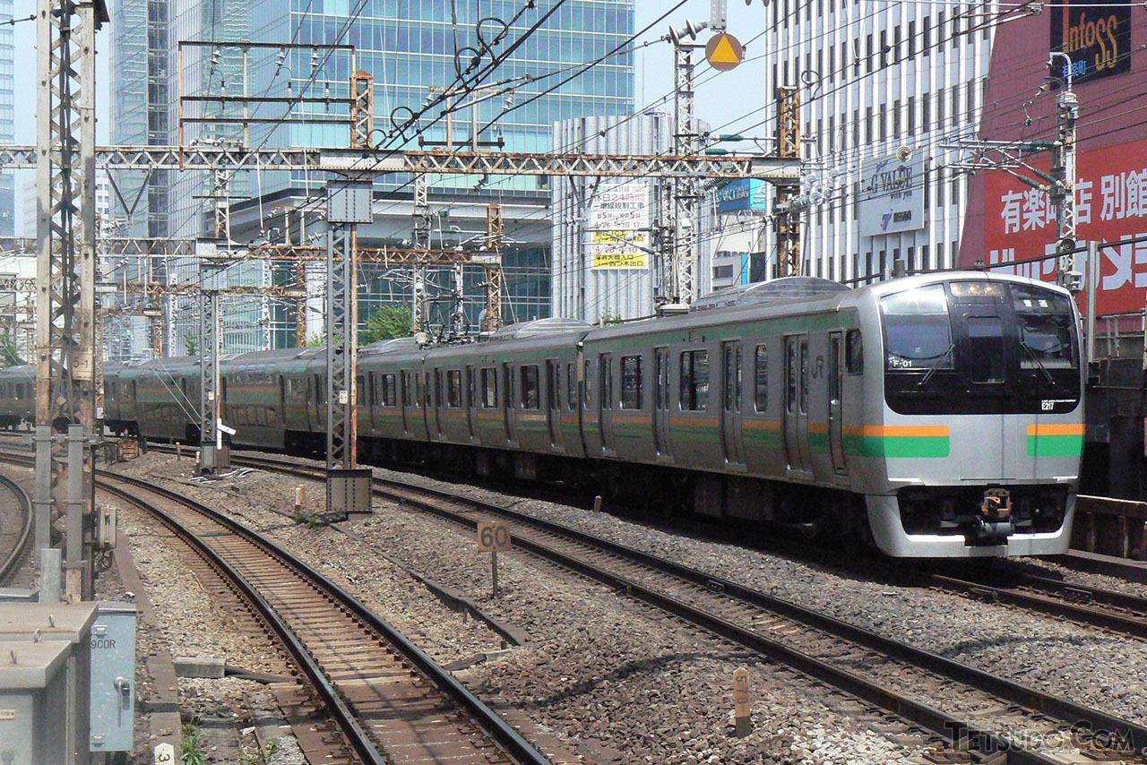 東海道線で活躍していた頃のE217系