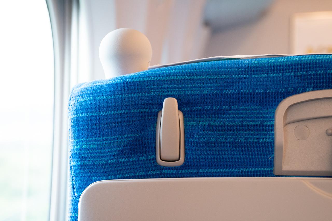 【N700S】座席に設置されたフック