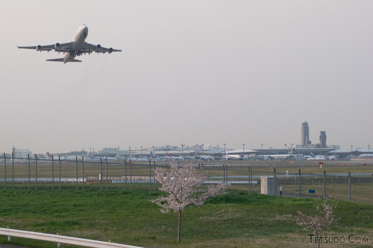 国際線が発着する成田空港