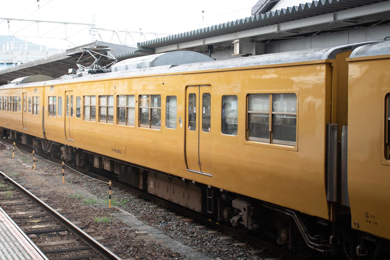 115系3500番台に改造された117系の中間車