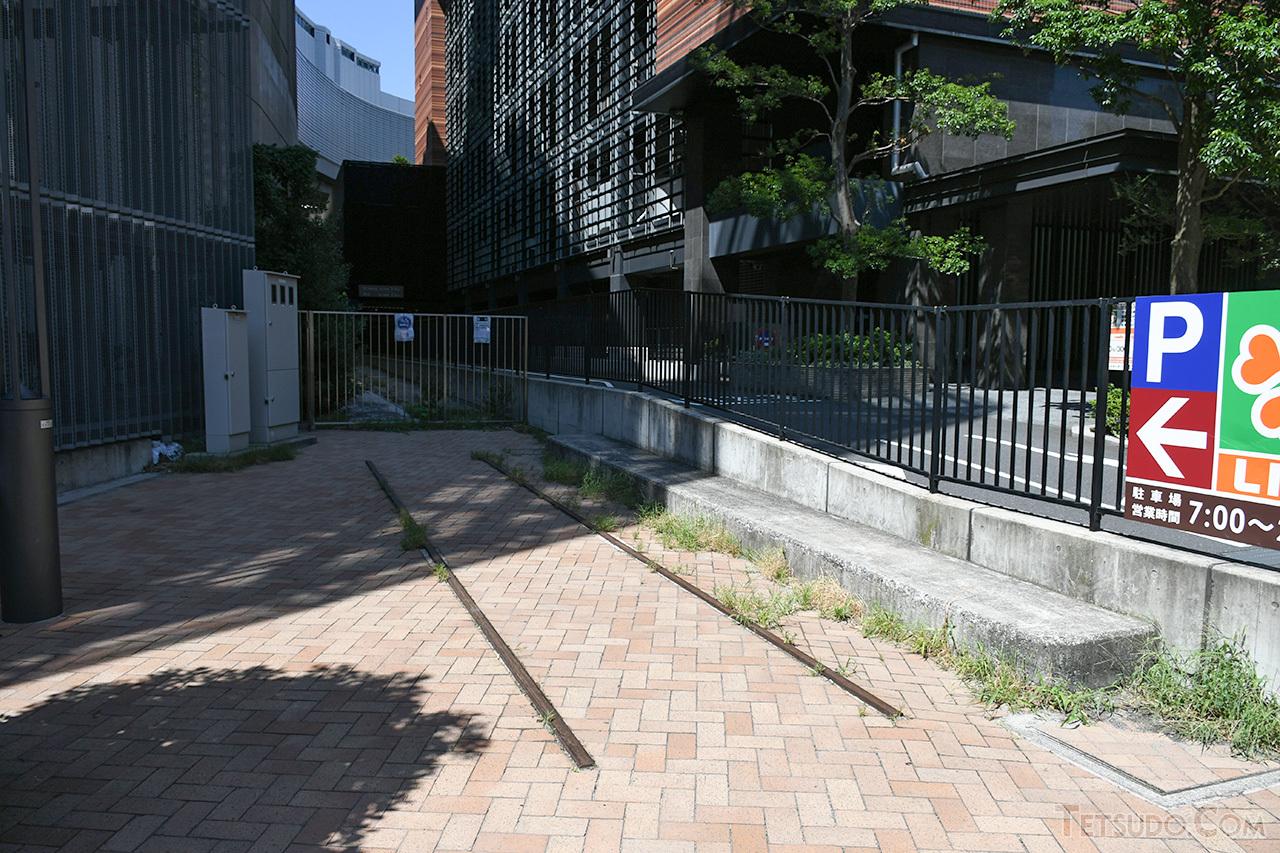 大橋ジャンクションの敷地内に設置されている、玉川線のモニュメント
