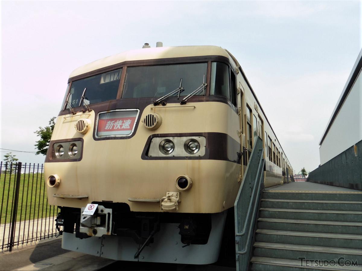 リニア・鉄道館での117系。現在は館内で展示されています