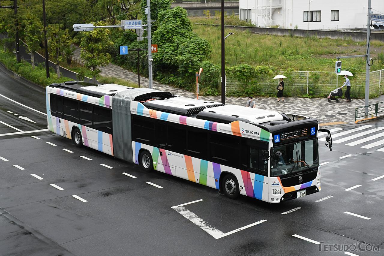 10月1日にプレ運行を開始した「東京BRT」