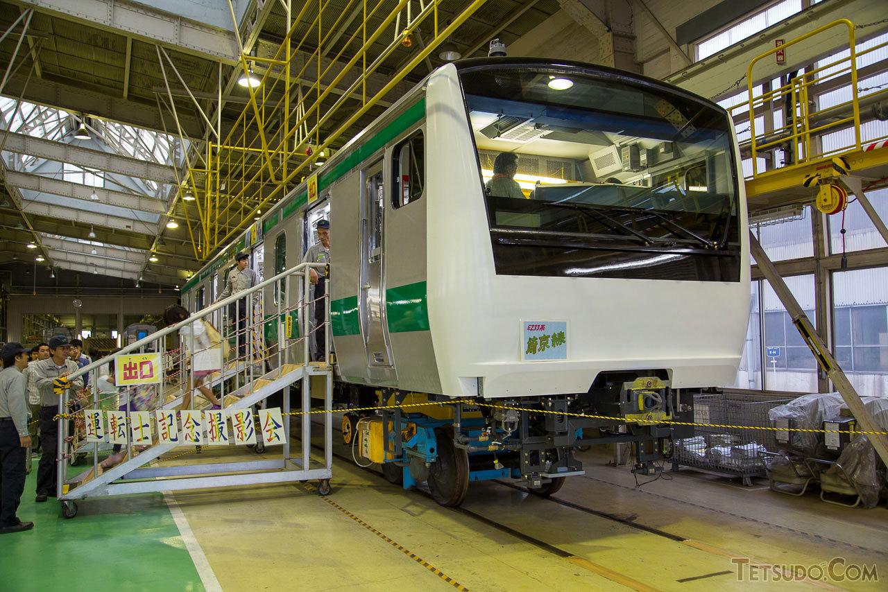 総合車両製作所の新津事業所で開催される「レールフェスタ in にいつ」。例年、新津駅や新津運輸区などでも同じ日にイベントが開催されます。(2013年10月12日)