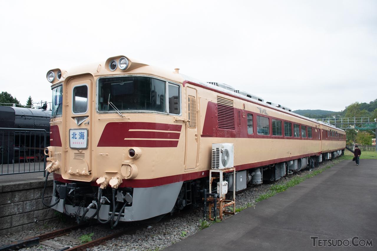 「かもめ」にも使用されたキハ80系(写真は小樽市総合博物館の保存車両)