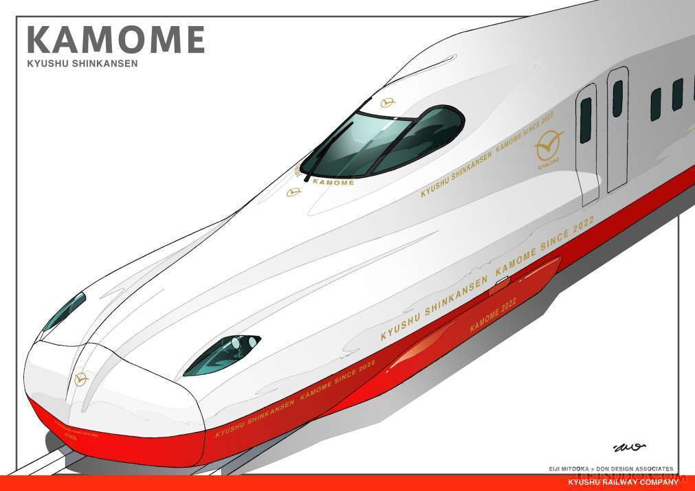 武雄温泉~長崎間開業時に投入される「かもめ」用車両。JR東海が開発したN700Sを採用します(画像:JR九州)