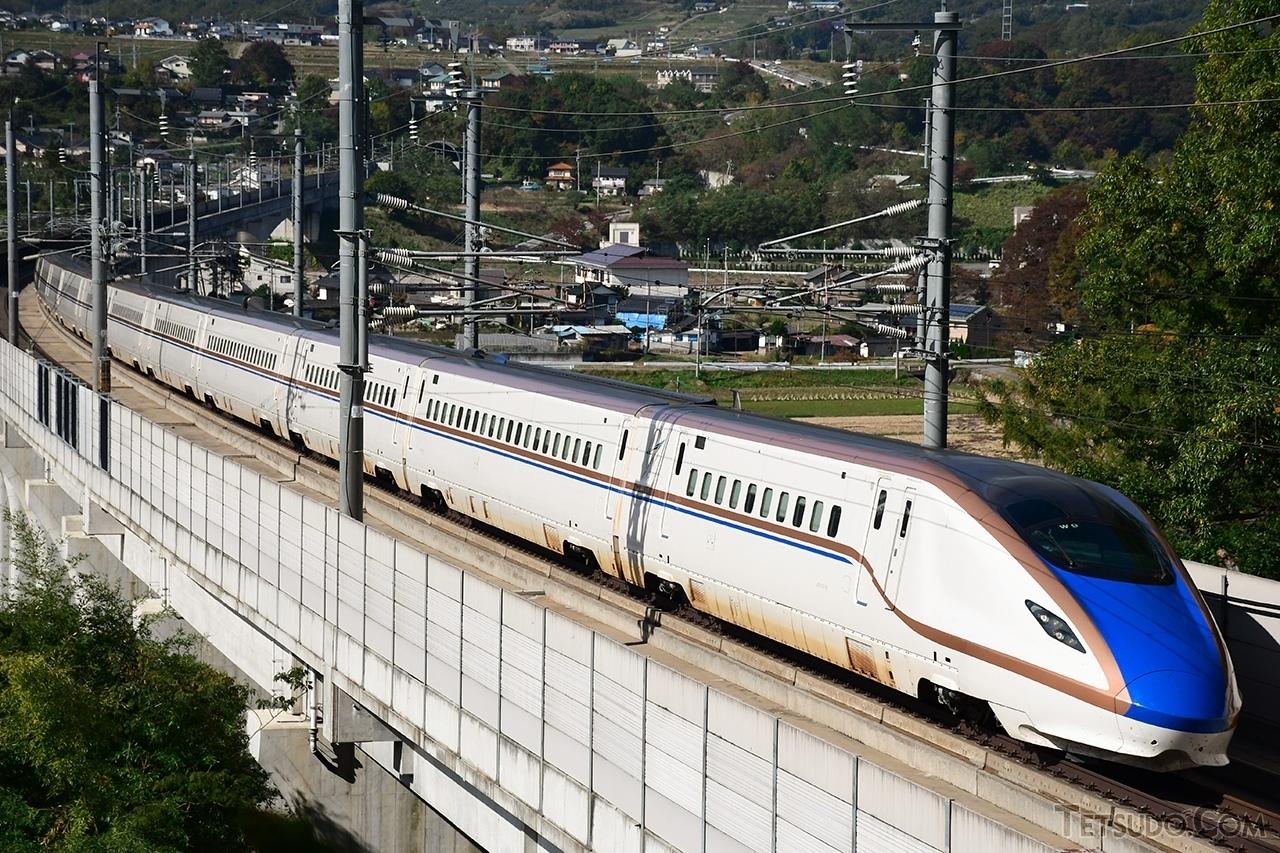 北陸新幹線を走るW7系