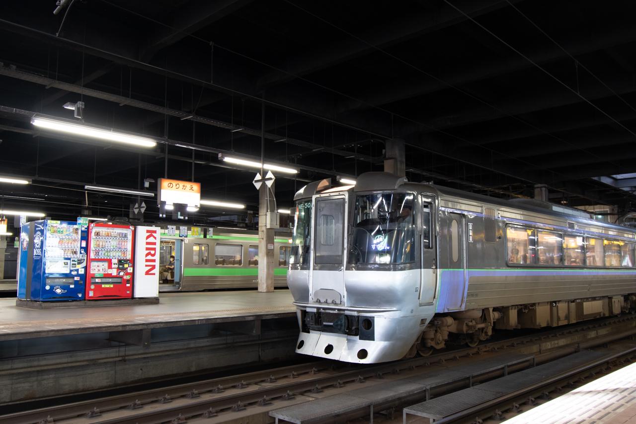 在来線の札幌駅ホーム