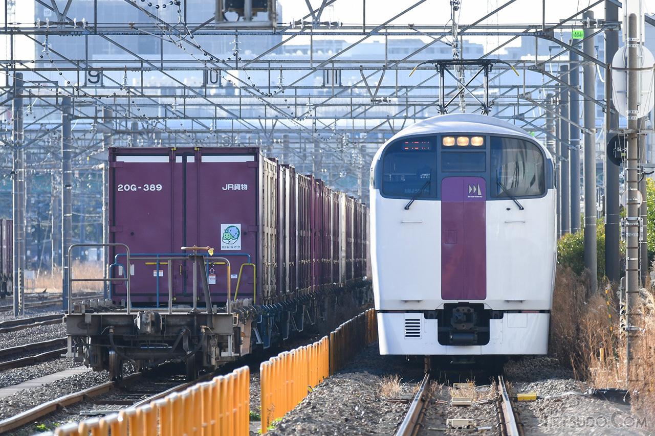 貨物線を走る「おはようライナー新宿」