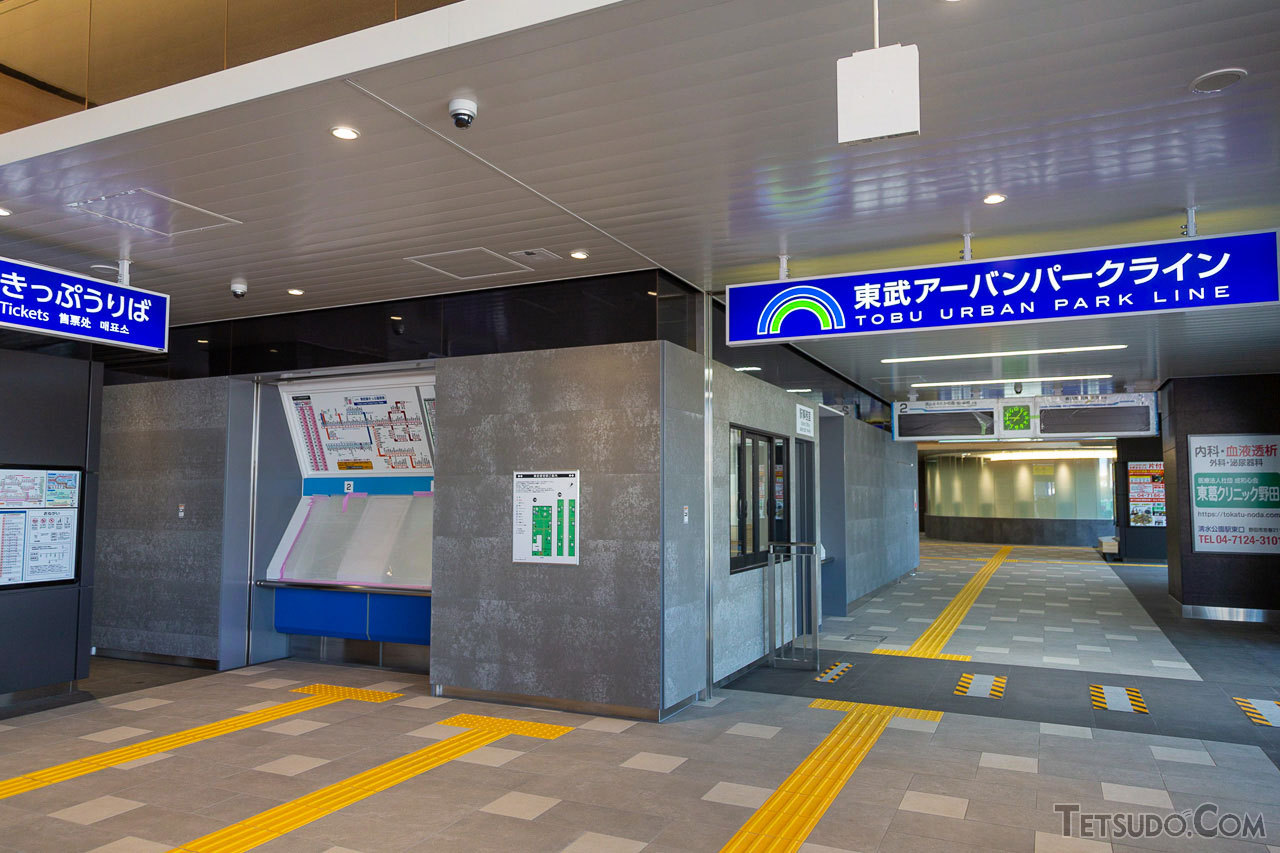 新駅舎の改札口付近。自動改札機や券売機などは、現在の駅舎から移設されます