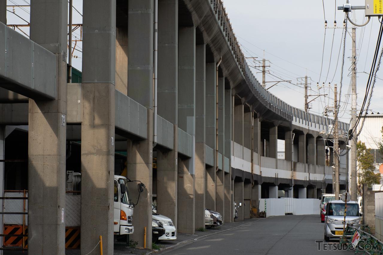 川崎貨物~浜川崎間の高架橋